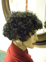 Curly Wig Side View